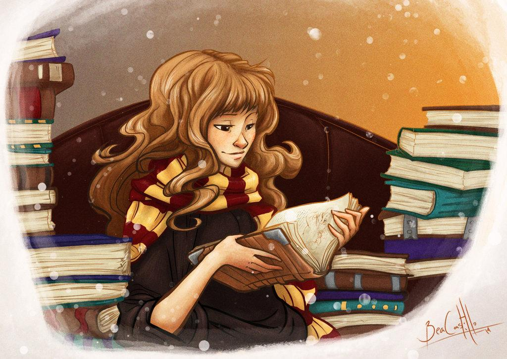 hermione_and_books_by_nary_san