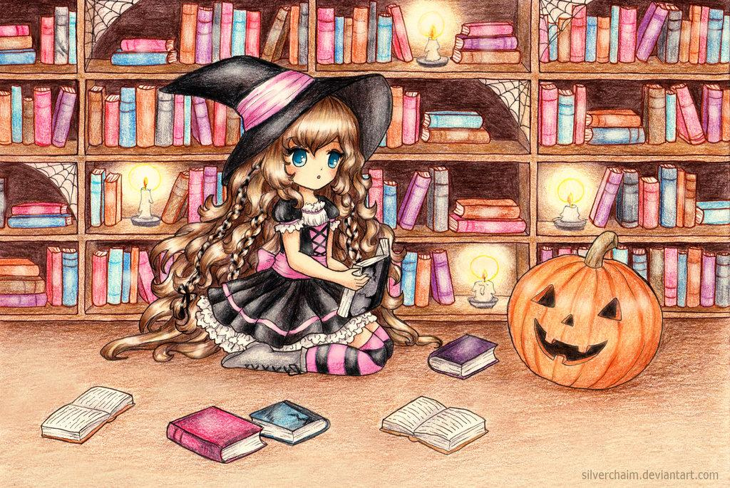 c__halloween_library_by_silverchaim-d84sfll