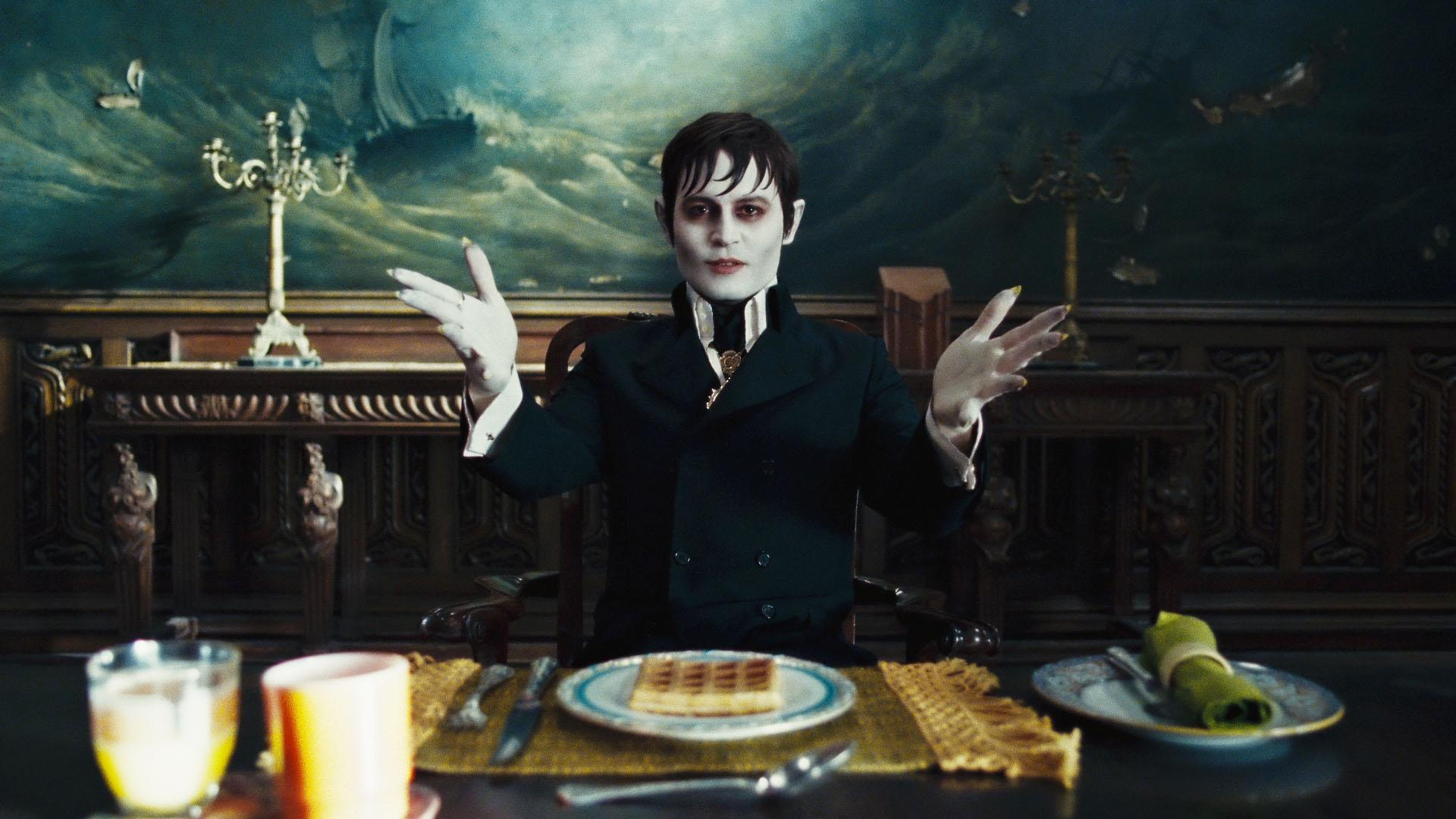 "DSTF-0046r JOHNNY DEPP as Barnabas Collins in Warner Bros. Pictures' and Village Roadshow Pictures' ""DARK SHADOWS,"" a Warner Bros. Pictures release."
