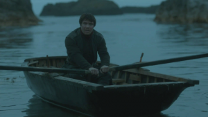 gendry rowing game of thrones hbo