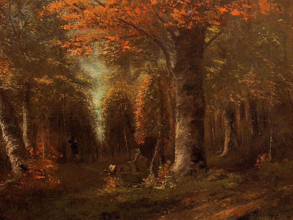 gustave-courbet-the-forest-in-autumn