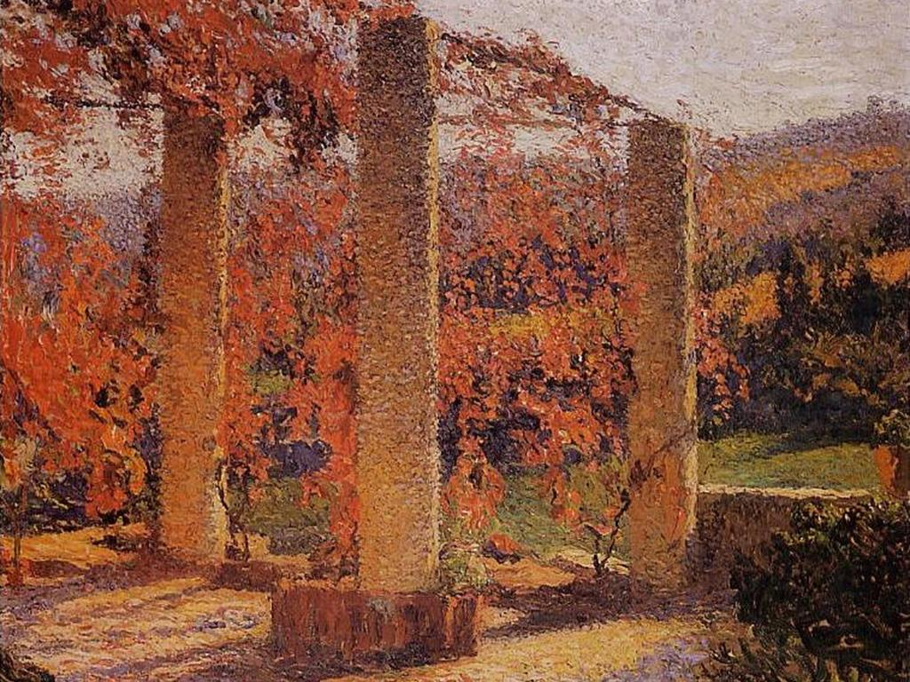 henri-martin-the-arbour-in-autumn