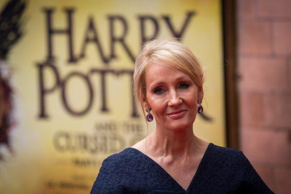 """LONDON, ENGLAND - JULY 30:  J. K. Rowling attends the press preview of """"Harry Potter & The Cursed Child"""" at Palace Theatre on July 30, 2016 in London, England. Harry Potter and the Cursed Child, is a two-part West End stage play written by Jack Thorne based on an original new story by Thorne, J.K. Rowling and John Tiffany.  (Photo by Rob Stothard/Getty Images)"""